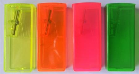 Ořezávátko Faber-Castell fluorescenční se zásobníkem