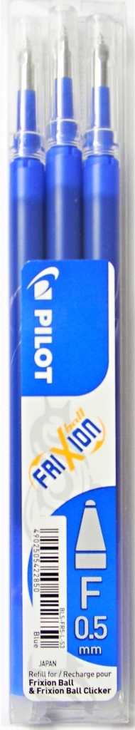 PILOT FRIXION gumovací náplně 0.5 (3ks v balení) modré