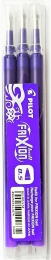 PILOT FRIXION gumovací náplně 0.5 (3ks v balení) fialové