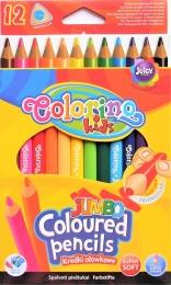 Pastelky COLORINO JUMBO 12 barev + ořezávátko