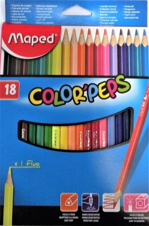 Pastelky MAPED Color Peps 18 barev