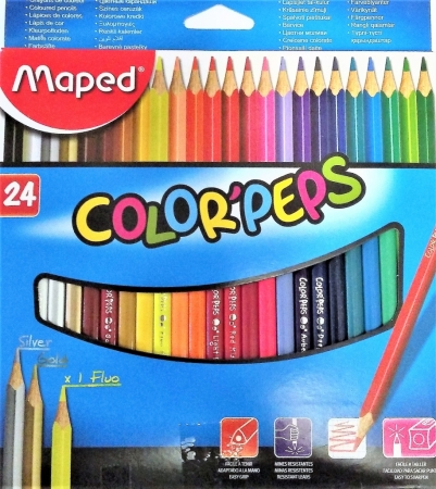 Pastelky MAPED Color Peps 24 barev