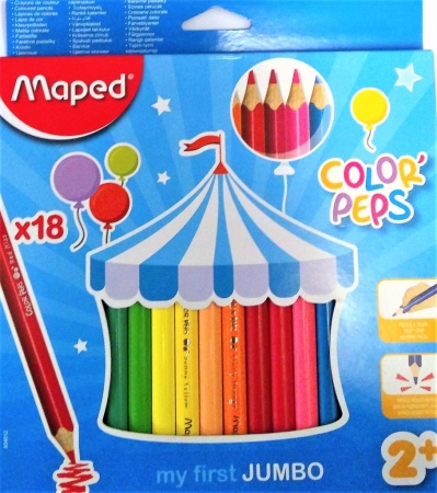 Pastelky MAPED Color Peps 18 barev JUMBO