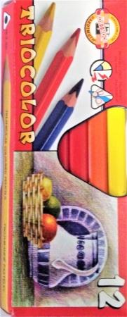 Pastelky TRIOCOLOR silné 12 barev