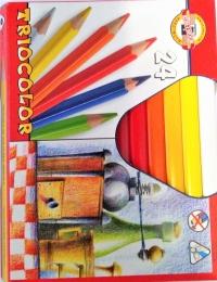 Pastelky TRIOCOLOR silné 24 barev