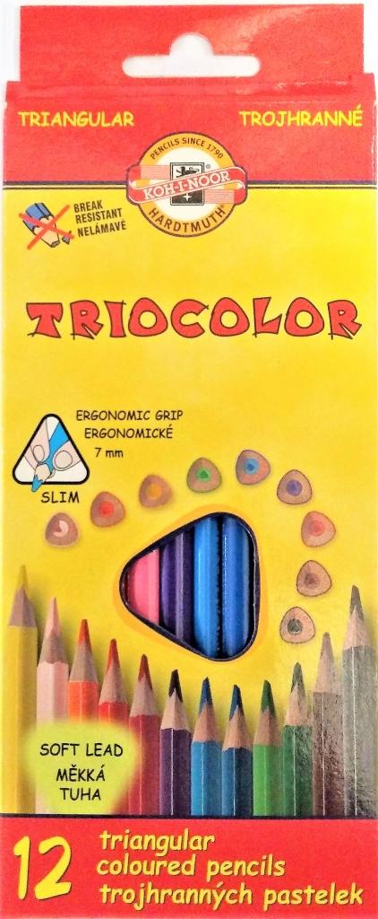 Pastelky TRIOCOLOR Koh-i-noor 12 barev