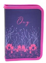 Penál 1 p. 2 klopy, prázdný Oxy Pink Flowers