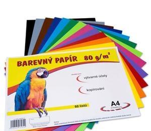 Barevné papíry A4 60listů 12barev