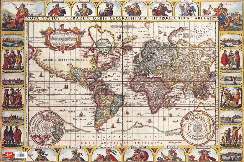 Podložka na stůl Mapa