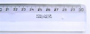 Pravítko 30cm transparentní
