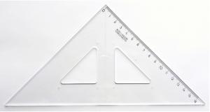 Trojúhelník 45/177 transparentní