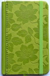 Zápisník KVĚTY zelený A6 linka