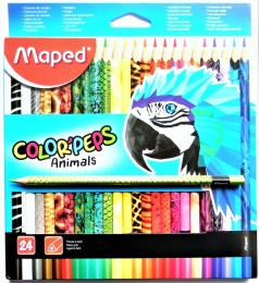 Pastelky MAPED Animals a Monster 24 barev