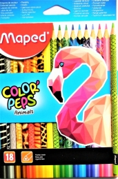 Pastelky MAPED Animals 18 barev