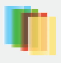 Obal na sešit PP A4 barevný, průhledný