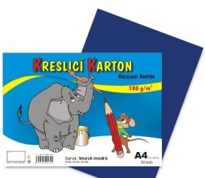 Kreslící karton A4 50ls 180g TMAVĚ MODRÝ