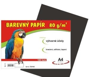 Barevný papír A4 100ls 80g ČERNÝ