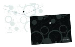 Plastový obal s drukem A4 - Black and White