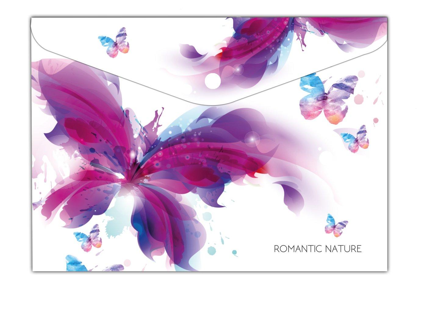 Plastový obal s drukem A4 - Romantic nature Motýl