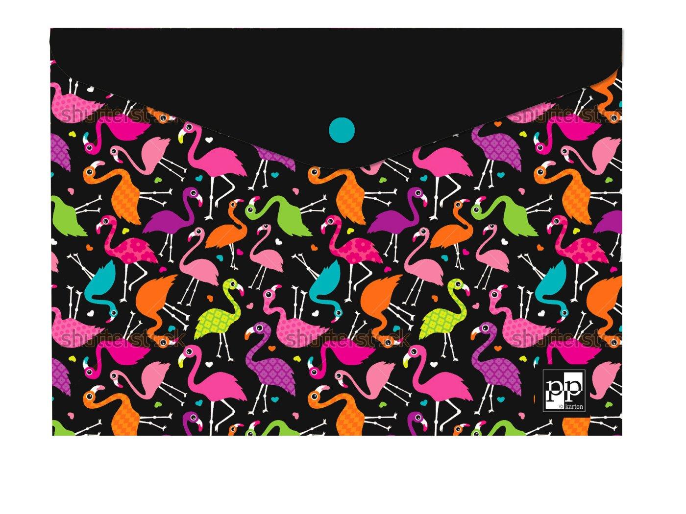Plastový obal s drukem A4 - Flamingo