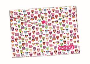 Plastový obal s drukem A5 - Sova / Owl