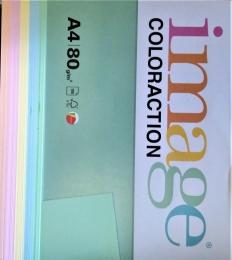 Barevný papír Coloraction A4 100ls 80g PASTEL MIX