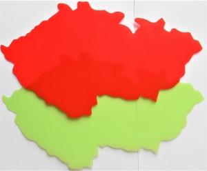 Šablona mapa ČR obrysová