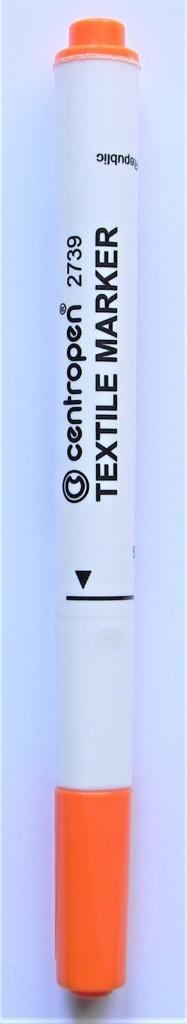 Popisovač CENTROPEN na textil 2739 ORANŽOVÝ