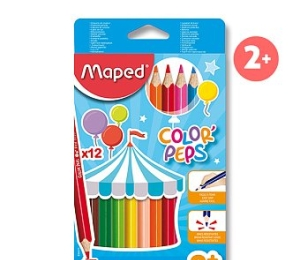 Pastelky MAPED Color Peps 12 barev JUMBO