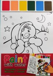 Vánoční omalovánky A4 s barvami