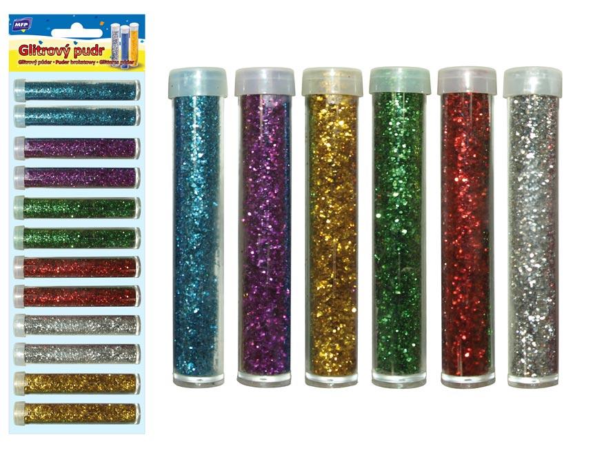 Glitrový pudr 5gr / 12ks / 6 barev