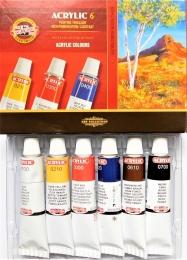 Akrylové barvy Koh-i-noor 6x16ml