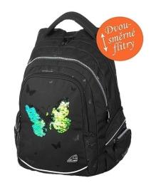 Studentský batoh FAME Sparkling Butterfly