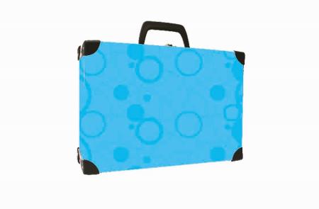 Kufřík lamino hranatý okovaný NEO COLORI modrá
