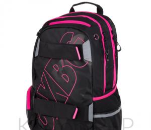 Studentský batoh OXY SPORT BLACK LINE pink