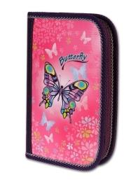 Penál 1p.2 klopy Butterfly neplněný