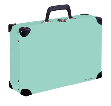 Kufřík lamino hranatý okovaný PASTELINI zelená