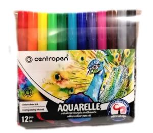 Popisovače AQUARELL 12 barev 8683