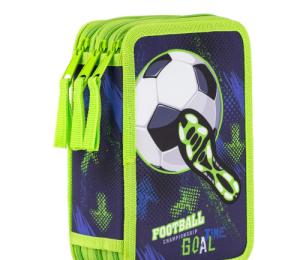 Penál 3p. prázdný Fotbal