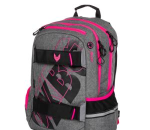 Studentský batoh OXY Sport GREY LINE pink