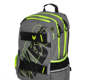 Studentský batoh OXY Sport GREY LINE green