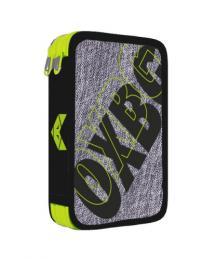 Penál 2 p. prázdný OXY Sport GREY LINE green