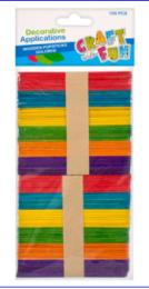 Nanukové tyčinky barevné 100ks