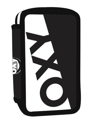 Penál 3 p. prázdný OXY NEON LINE Black & White