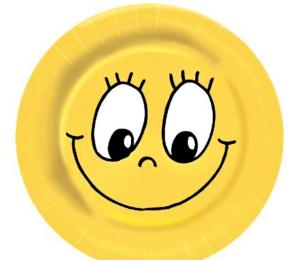 Papírové talíře SMILING FACE 23cm 10ks