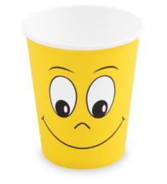 Papírové kelímky SMILING FACE 280ml 10ks