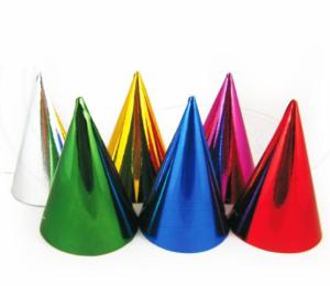 Papírové kloboučky jednobarevné 6ks