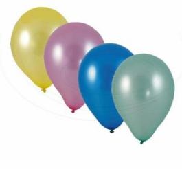 Nafukovací balónky METALICKÉ 10ks