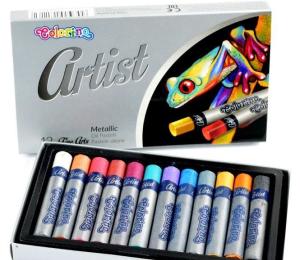 Artist olejové pastely metalické 12 barev