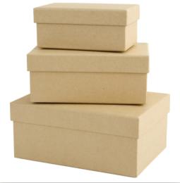 Krabička kartonová 1742201 sada 3ks obdélník